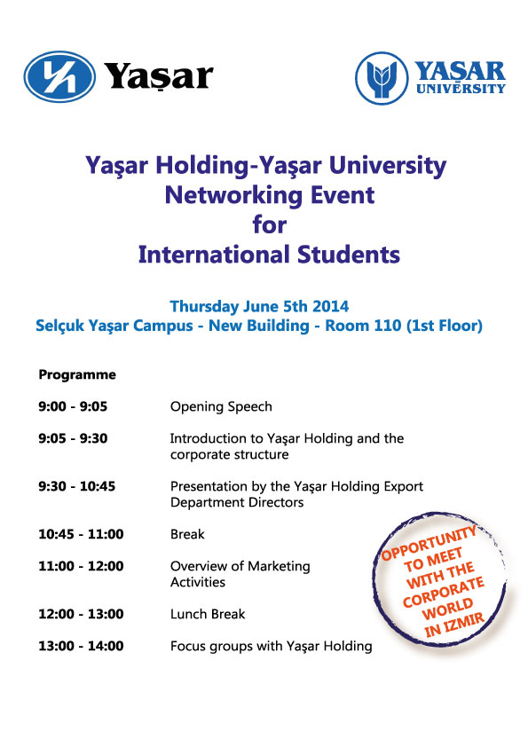 Yasar Holding- University Networking Event